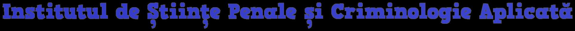 Institutul de Științe Penale și Criminologie Aplicată
